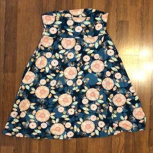 lularoe skirt azure floral print size M medium